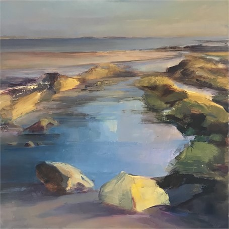 "Holly Ready | Tidal Pool | Oil on Board | 20"" X 20"" 