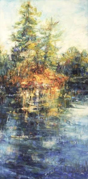 "Susan Wahlrab | Last Ray | Varnished Watercolor on Archival Claybord | 12"" X 6"" 