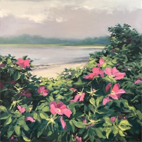 Beach Roses 24 x 24