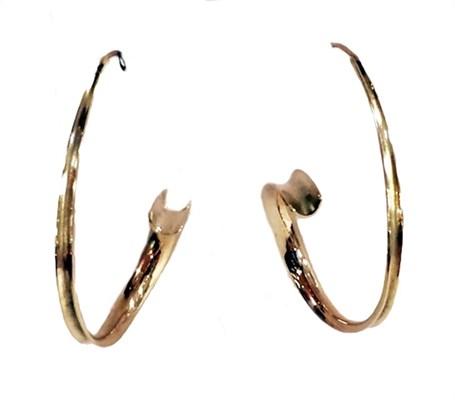 Earrings - Large 14kt Gold Anticlastic 3439
