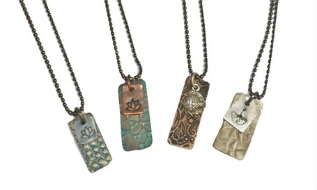 Necklace - Double Charm, Assorted Silver and Bronze Charms