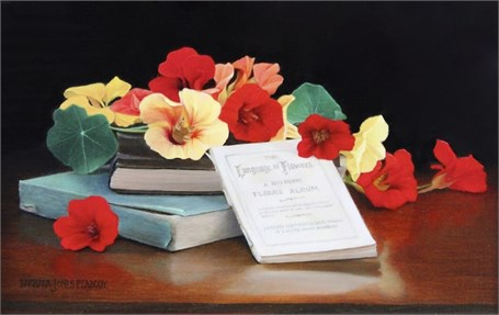 "Barbara Jones Peabody | The Language of Flowers | Oil | 6"" X 9"" 