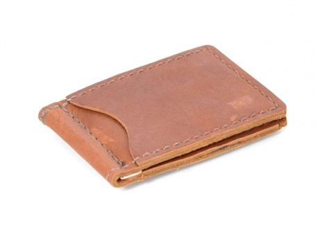 Leather Money Clip - Saddle RU20