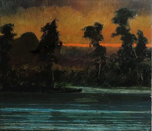 Twilight, River
