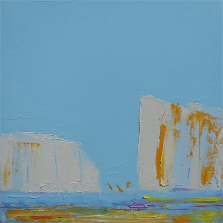 "Janis H. Sanders | Summer Sail VI | Oil on Canvas | 12"" X 12"" 