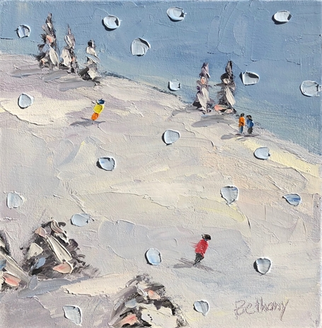 "Bethany Harper Williams | A Snowy Day | Oil on Canvas | 12"" X 12"" 