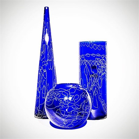 Doodle Sphere in Blue