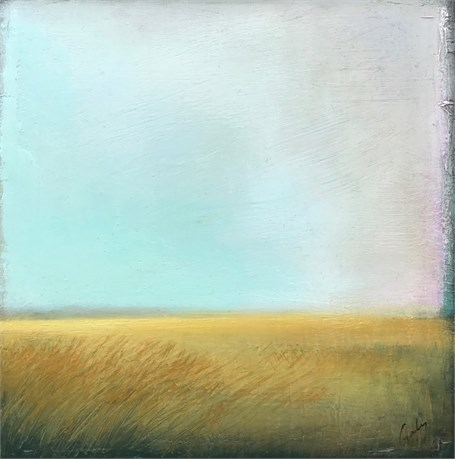 "Margaret Gerding | Golden Marsh | Oil on Canvas | 10"" X 10"" 