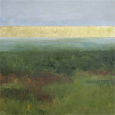 "Ellen Welch Granter | Gold Ocean No. 20 | Oil / Leaf on Canvas | 30"" X 30"" 