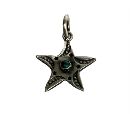 Pendant - Sterling Silver Star with Turquoise