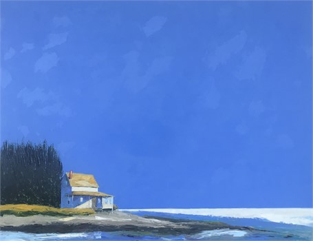 "Janis H. Sanders | Summer Blue | Oil | 31.12"" X 40.25"" 