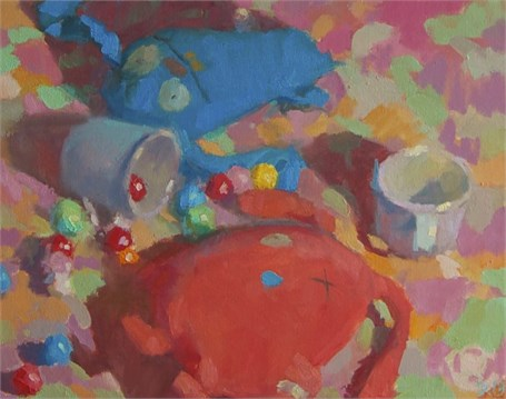 "Daniel J. Corey | Gumballs and Ugly Dolls | Oil | 16"" X 20"" 