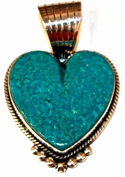 Pendant - Large Turquoise Heart