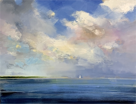 "Craig Mooney | Sandbar Light & Shadow | Oil | 36"" X 48"" 