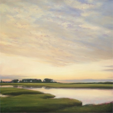 "Margaret Gerding | Mousam River | Oil on Panel | 30"" X 30"" 
