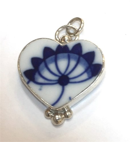 Charm - Vintage Blue Flower
