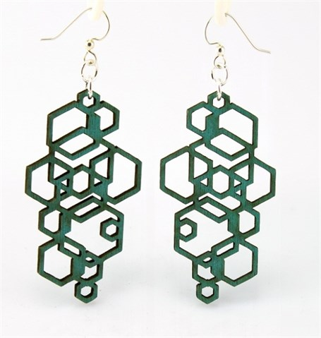 Earrings - Hexagon Cluster 1051