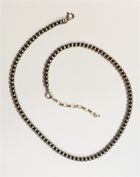 Necklace - Sterling Silver Navajo Pearls 4mm