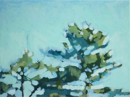 "Liz Hoag | Treeline XV | acrylic | 9"" X 12"" | $600.00"