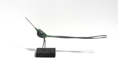 "James Rivington Pyne | Green Longtail | Composite | 6.5"" X 14"" 
