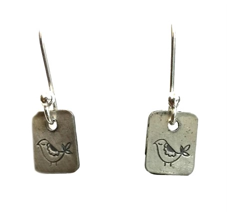 Earring - Silver Charms Bird