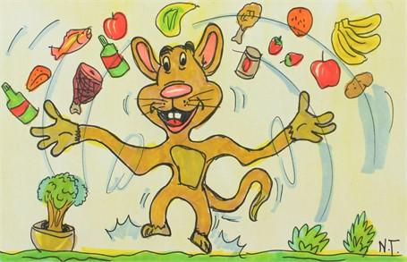 Juggling Mouse (FRAMED)
