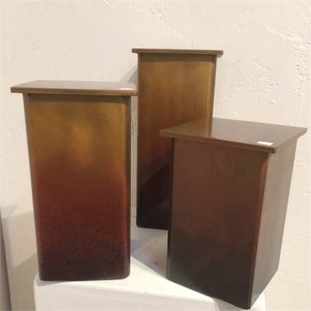Pedestal - Patined Steel 12