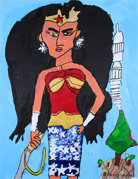 Wonder Woman in the Amazon