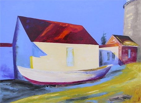 "Janis H. Sanders | Head Light & Shadows | Oil on Canvas | 30"" X 40"" 