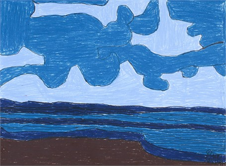 Blue Clouds by the Sea