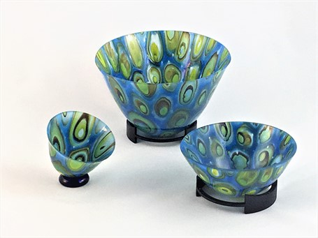 Vase Set- Peacock (3 Pieces)