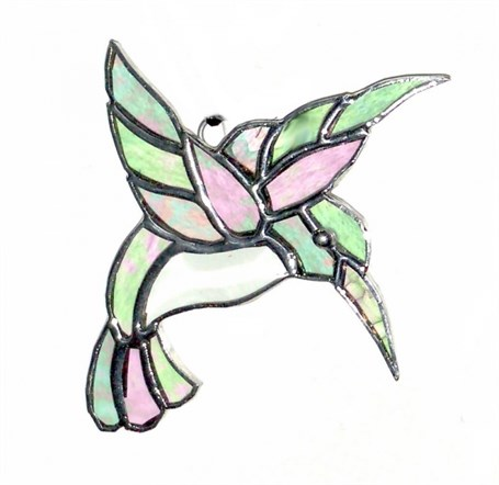 Glass - Clear Beveled Hummingbird  GL06