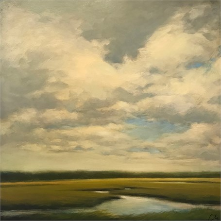 "Margaret Gerding | Road to Goose Rocks I | Oil on Panel | 16"" X 16"" 