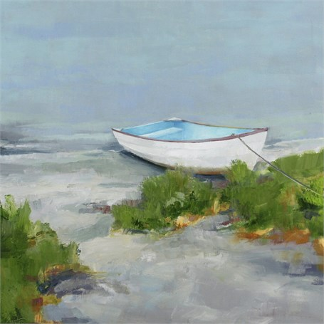 "Ellen Welch Granter | Beached Dory | Oil on Panel | 24"" X 24"" 
