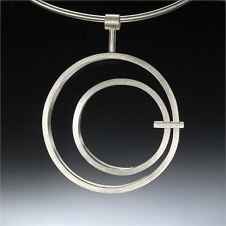 Necklace: Medium Circle in Circle Pendant