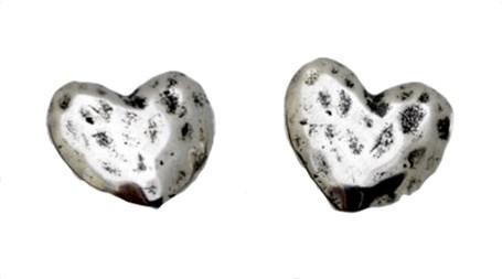 Earring - Sterling Silver Hearts