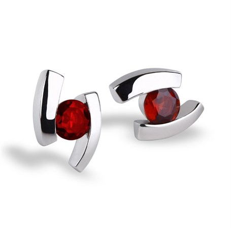Earrings - Sterling Silver & Garnet Floating E3059GA