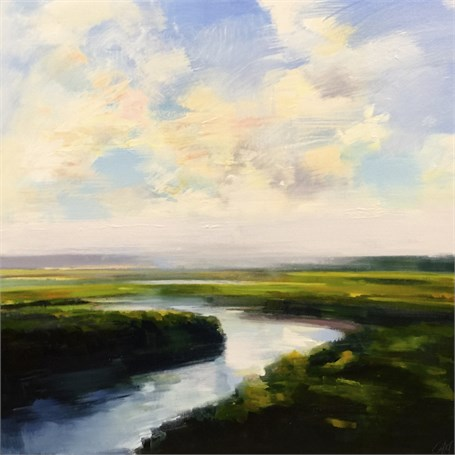 "Craig Mooney | Marsh Mist | Oil | 36"" X 36"" 