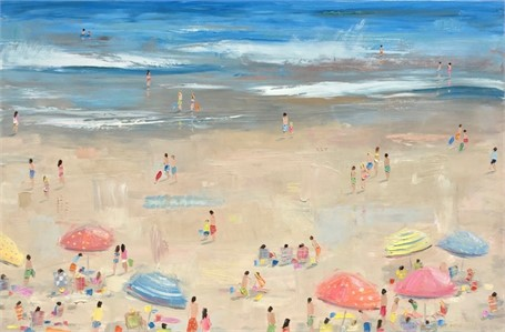 "Bethany Harper Williams | Why Must Summer Ever End | Oil on Canvas | 48"" X 72"" 