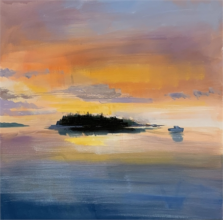 "Craig Mooney | Island Sunrise | Oil on Canvas | 36"" X 36"" 