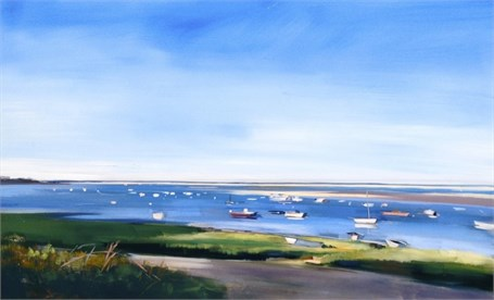 "Craig Mooney | Harbor Boats | Oil | 30"" X 50"" 