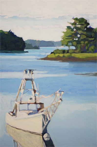 "Liz Hoag | Moored | Acrylic | 30"" X 20"" 