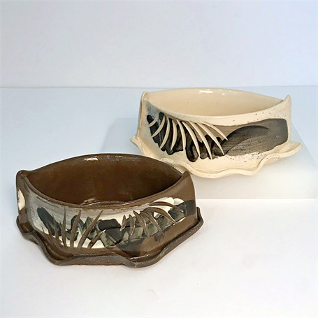 "Brendan Roddy | Oblong Coastal Vessel | Ceramic | 2.5"" X 7"" 