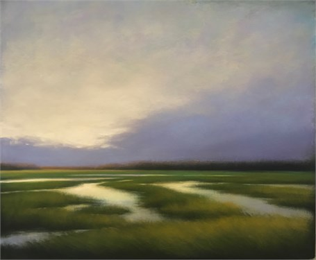 "Margaret Gerding | Violet Daybreak | Oil on Panel | 30"" X 40"" 