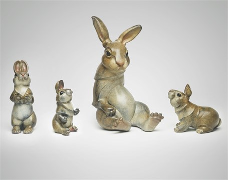 Cottontail Rabbit Family -  Maquette