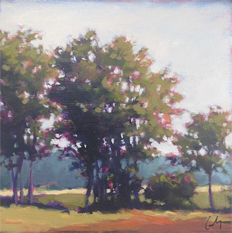 "Margaret Gerding | Jordan's Farm Fields II | Oil on Panel | 10"" X 10"" 