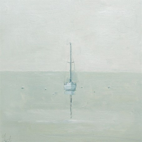 "Ellen Welch Granter | Boat Grid | Oil on Panel | 12"" X 12"" 
