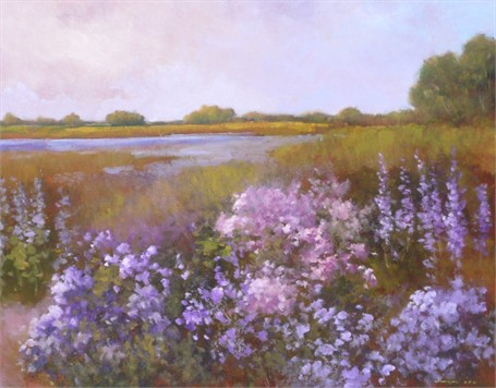 "Monique Sakellarios | Summer in Maine | Oil | 22"" X 28"" 