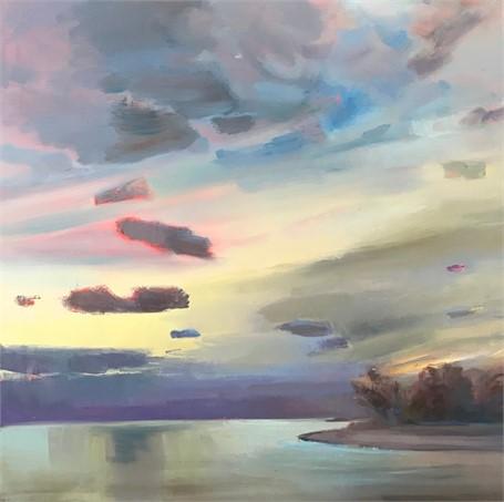 "Holly Ready | Stillness | Oil on Canvas | 24"" X 24"" | Sold"
