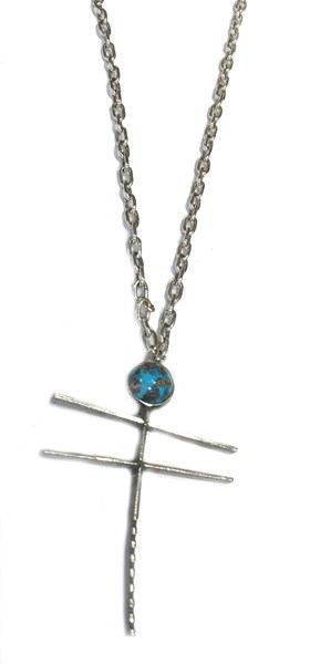 Necklace - Dragon Fly - Sterling Silver & Turquoise